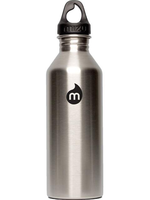 MIZU M8 Bottle with Black Print & Loop Cap 800ml Stainless